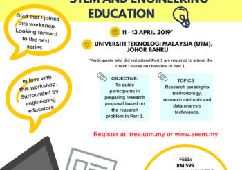 3 – DAY WORKSHOP ON: PREPARING RESEARCH PROPOSAL IN ENGINEERING AND STEM EDUCATION